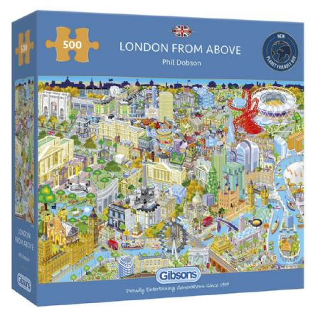 London from Above by Phil Dobson 500 Piece Gibsons Jigsaw